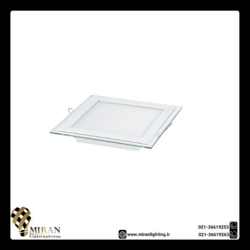 پنل SMD دور شیشه 12 وات مربع زاک