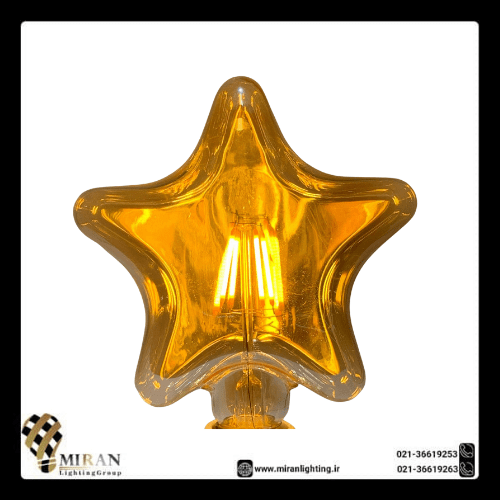 لامپ ادیسونی ۴۰ وات طرح ستاره ای پایه E27