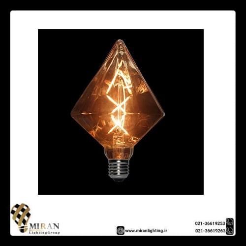 لامپ BLG110 DIAMOND حباب خاکستری روشن ادیسونی